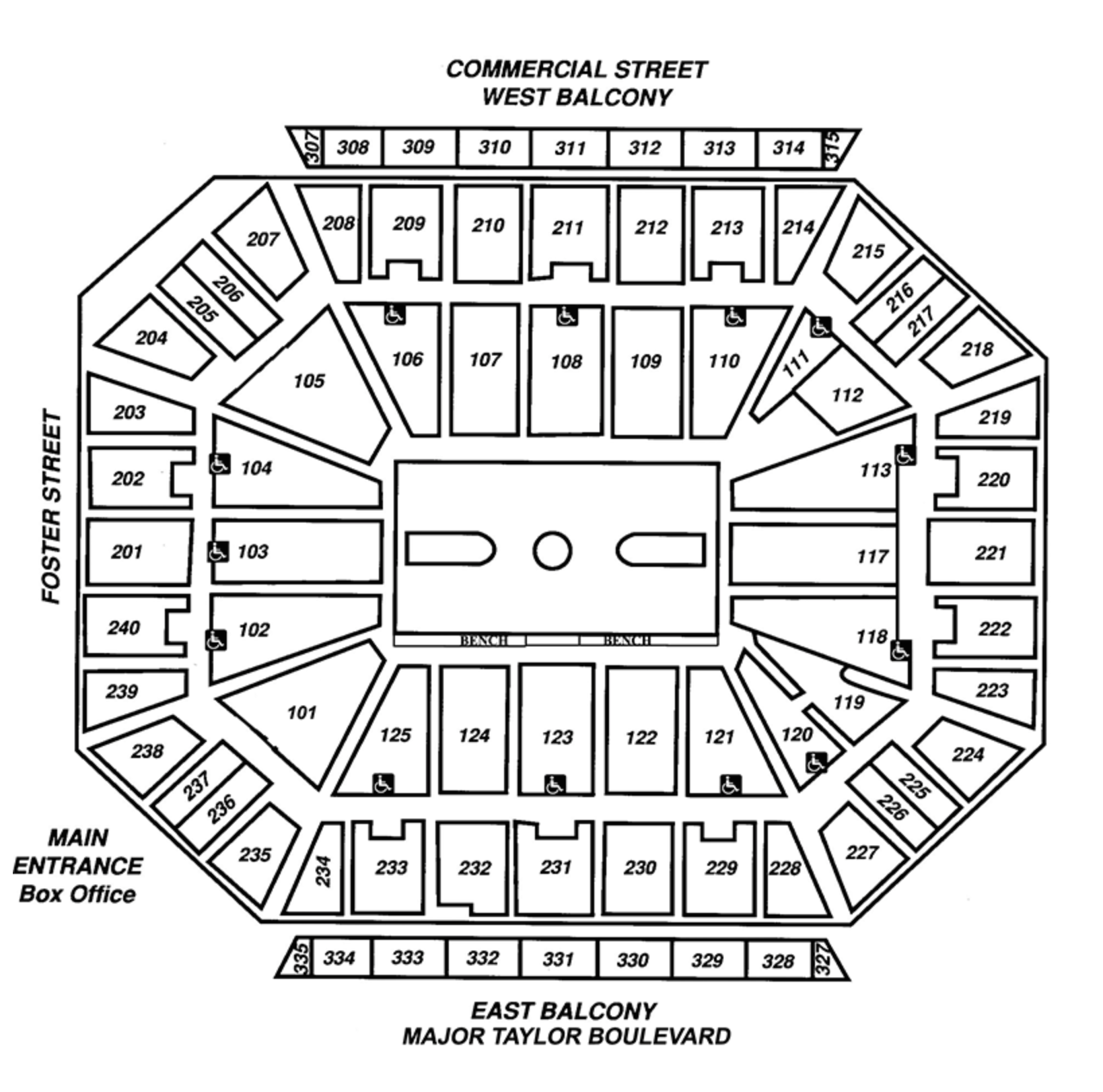 Arena Seating Map