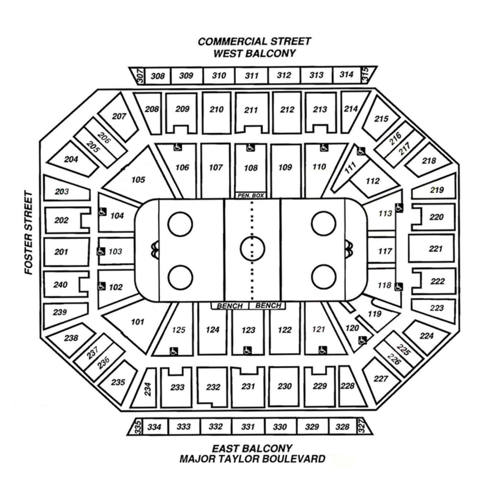 Hockey Arena Seating Map