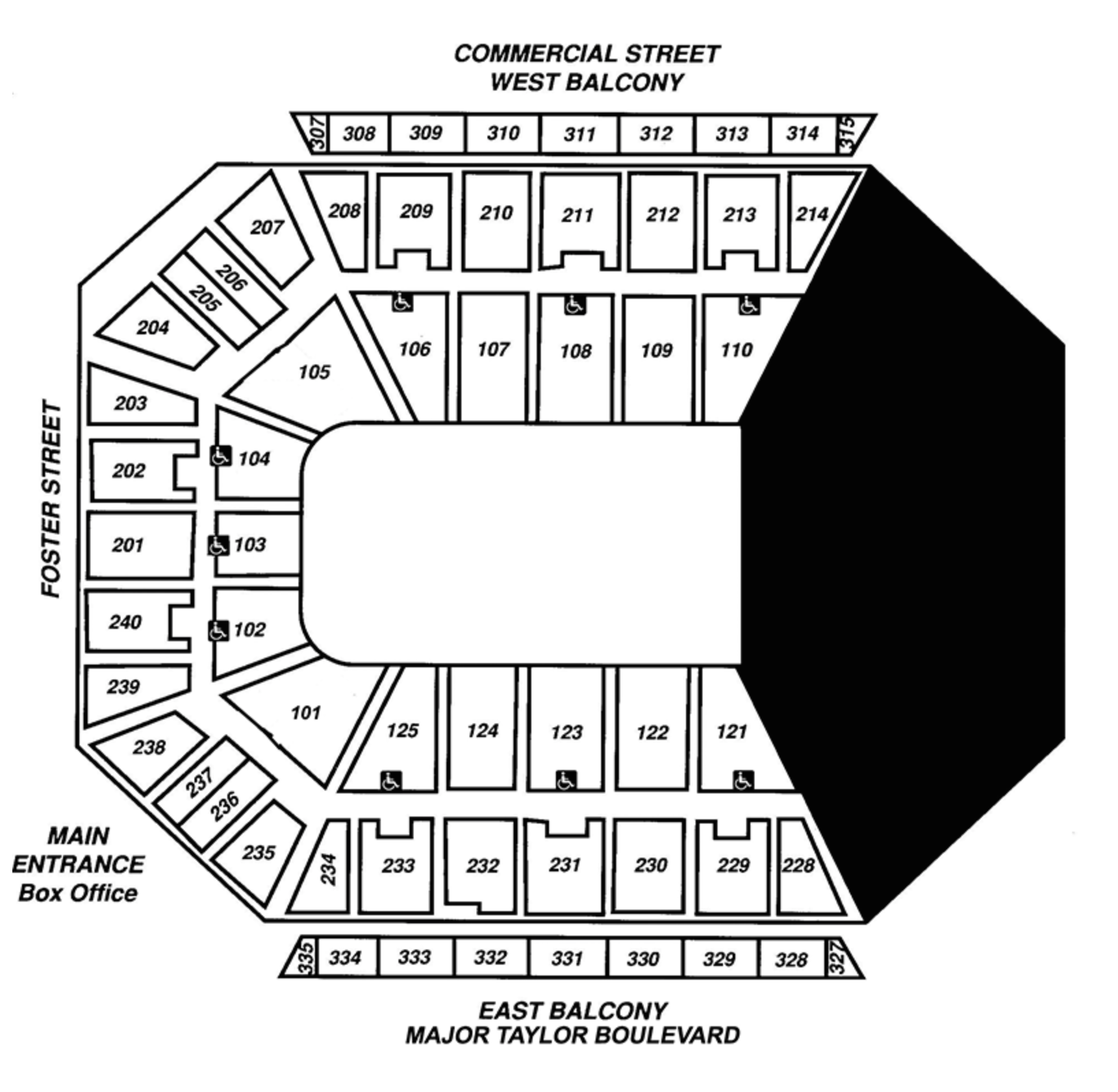 Ice Show and Third Quarter Seating Map