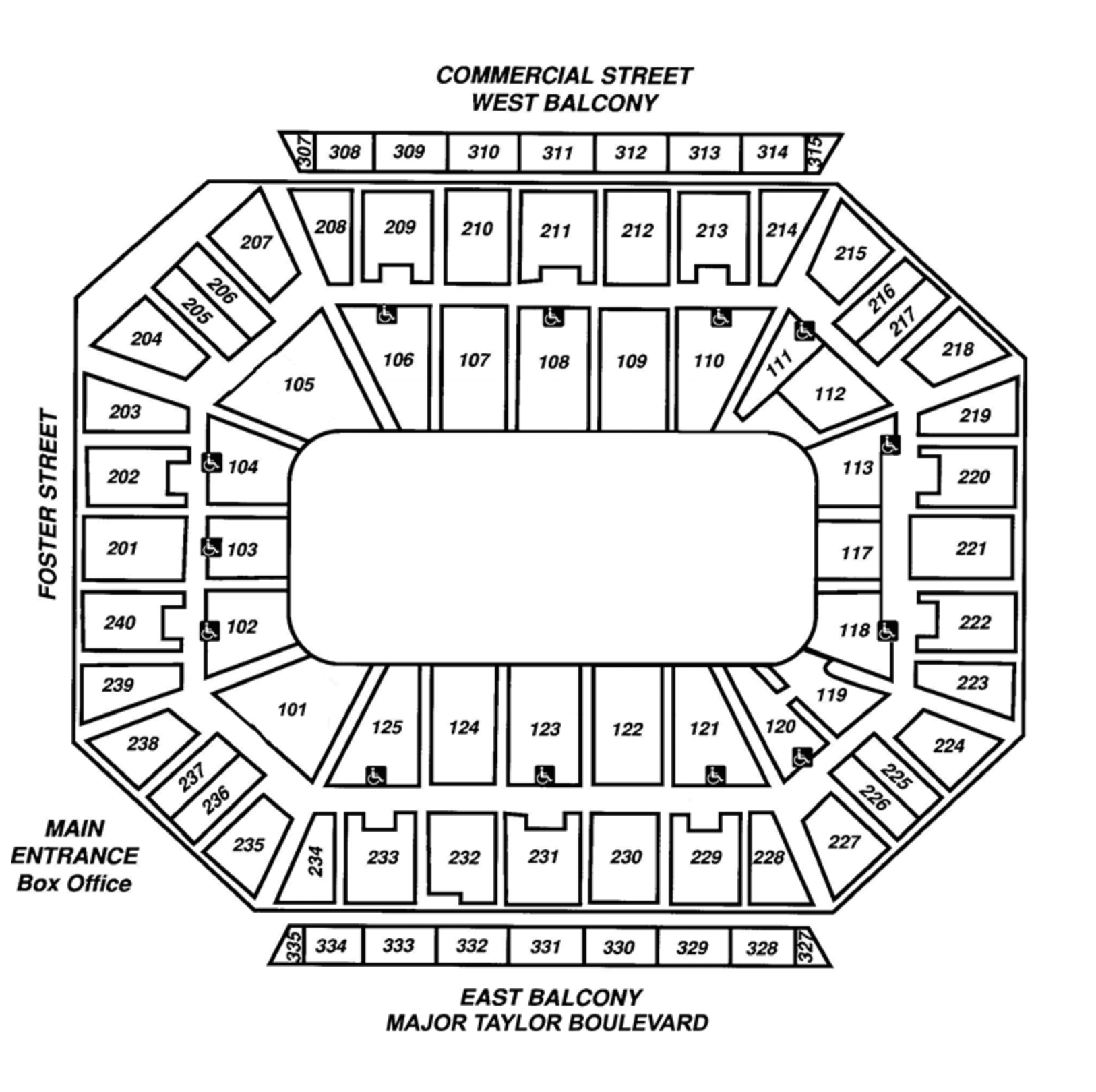 Open Arena Seating Map