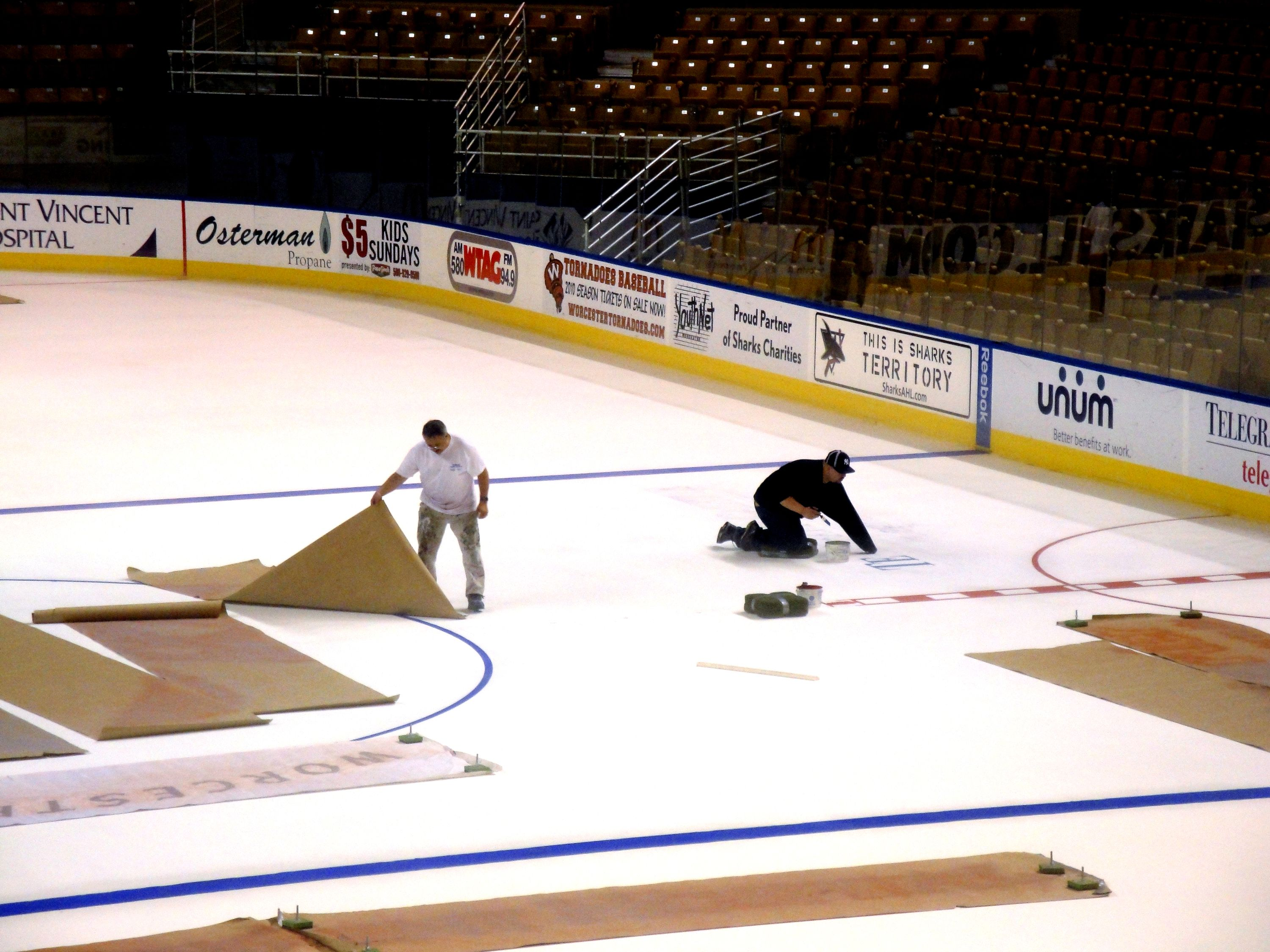 making the ice dcu center